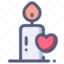 candle, love, marriage, romance, valentine icon