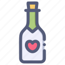 beverage, bottle, champagne, love, wine