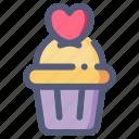 cupcake, dessert, love, muffin, valentine, wedding
