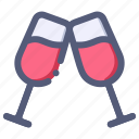 beverage, champagne, drink, glass, wine icon