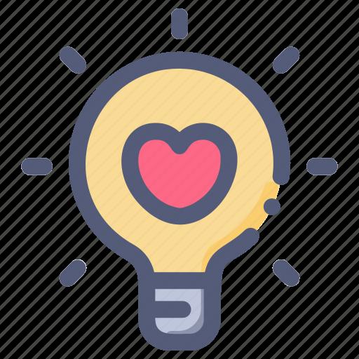 bulb, lamp, love, valentine, wedding icon
