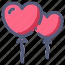 balloon, decoration, heart, love, wedding