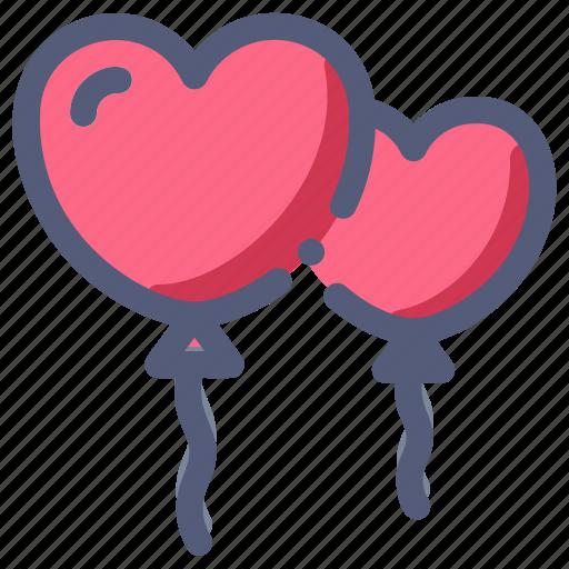 balloon, decoration, heart, love, wedding icon
