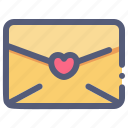 invitation, letter, love, mail, valentine icon