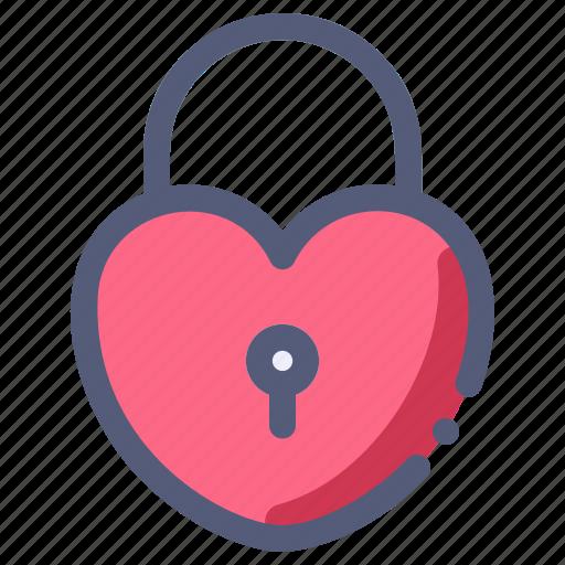 lock, love, padlock, romance, valentine icon