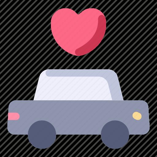 car, limousine, love, marriage, transport, wedding icon