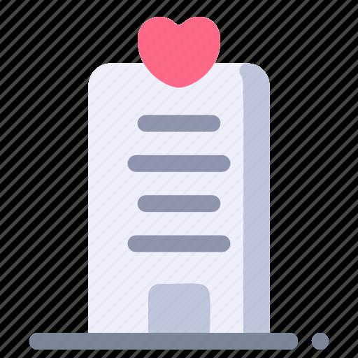 building, hotel, love, romance, wedding icon