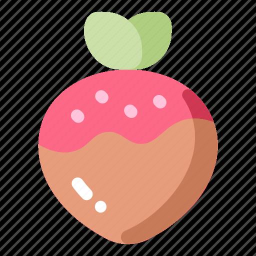 chocolate, dessert, love, strawberry, sweet icon
