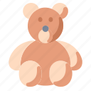bear, child, gift, romance, teddy, toy icon