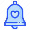 bell, church, engagement, love, wedding icon