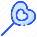candy, heart, lollipop, love, valentine icon