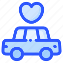car, limousine, love, marriage, transport, wedding icon