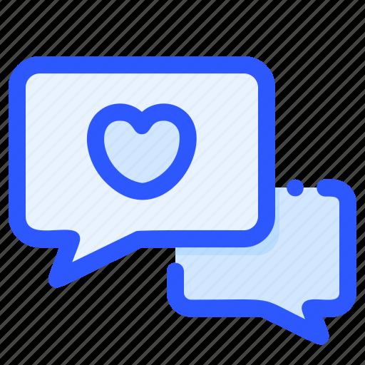 chat, love, message, romance, valentine icon
