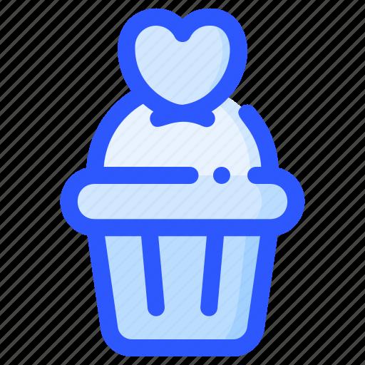 cupcake, dessert, love, muffin, valentine, wedding icon