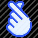 finger, hand, heart, love, valentine icon