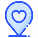 location, love, map, pin, wedding icon