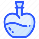 chemistry, flask, love, potion, valentine icon