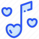 love, music, song, valentine, wedding icon