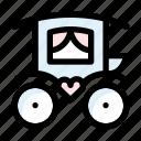 carriage, marriage, wedding icon