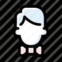 bowtie, groom, man, marriage, wedding icon