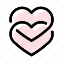 hearts, love, marriage, romance, wedding icon