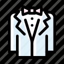 groom, man, marriage, tuxedo, wedding icon
