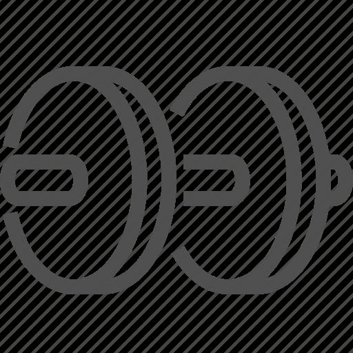 balance, barbell, fitness, heavy, rod, sport, stroke icon