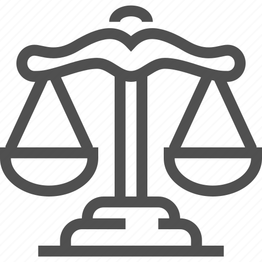 balance, fairness, judge, judgment, justice, law, scales icon
