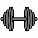 dumbbell, fitness, gym, sports, weight