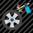 gun, tire, tyre, welding, wheel