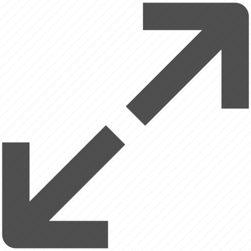 app, arrow, fullscreen, web, website icon