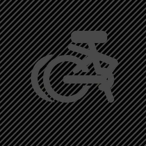 bicycle, bike, folding, individual, sport, wheels icon