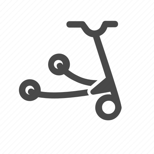 individual, scooter, sport, three, wheel, wheels icon