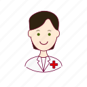.svg, black hair, enfermeiro, job, nurse, profession, professional, profissão, white man icon