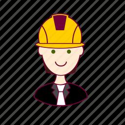 .svg, black hair, engenheiro, engineer, job, profession, professional, profissão, white man icon