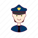 .svg, black hair, job, police officer, policial, polícia, profession, professional, profissão, white man icon