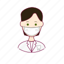 .svg, black hair, dentes, dentist, dentista, job, profession, professional, profissão, teeth, white man icon