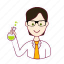.svg, black hair, cientista, job, profession, professional, profissão, scientist, white man icon