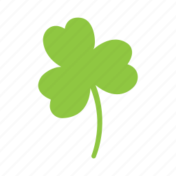 clover, flower, leaf, nature, three icon