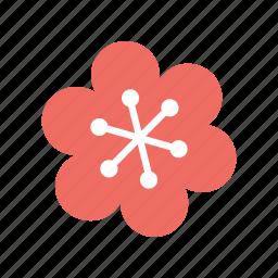 flower, flowers, leaf, snow, snowy icon