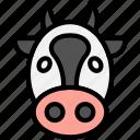 bull, bison, face, animal, buffalo icon