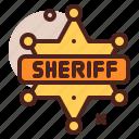 sheriff, star, western, cowboy