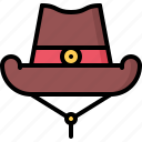 cowboy, hat, headdress, west, wild icon