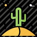 cactus, desert, sun, west, wild icon