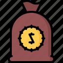 bag, cowboy, money, west, wild icon