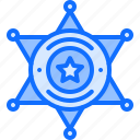 badge, cowboy, sheriff, star, west, wild icon