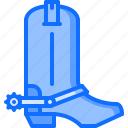 boot, boots, cowboy, shoes, west, wild icon