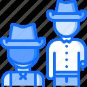 cowboy, duel, pistol, revolver, west, wild icon