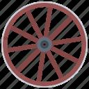 cowboy, wagon, west, wheel, wild icon