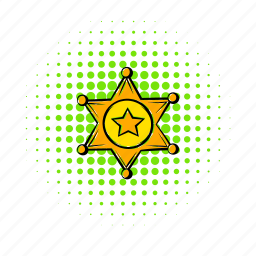 authority, comics, gold, metal, sheriff, star, west icon